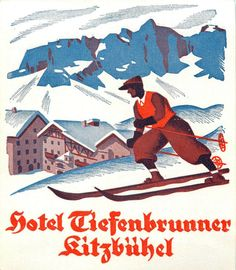 (Untitled) Retro Illustration, Illustrations, Luggage Labels, Luggage Stickers, Vintage Ski Posters, Nordic Skiing, Vintage Hotels, Travel Ads, Ski Vacation