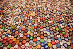 beer bottle cap art!