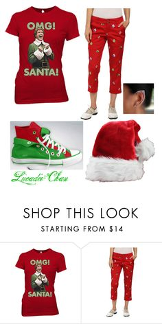 We wish you a merry Christmas~ by lucadie-chan on Polyvore featuring Ripple Junction, Loudmouth and Converse