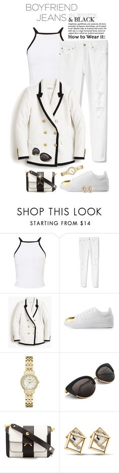 """""""Borrowed from the Boys: Boyfriend Jeans"""" by shortyluv718 ❤ liked on Polyvore featuring Miss Selfridge, Gap, J.Crew, Charlotte Russe, Kate Spade, Marni and boyfriendjeans"""