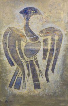 FRANÇOISE GILOT Felszálló főnix | Phoenix Rising 1985 – 164x118 cm akril, vászon – lebegő festmény | acrylic on canvas – floating painting, Várfok Galéria, Budapest