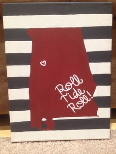 Items similar to University of Alabama Canvas on Etsy Diy Canvas, Canvas Art, Canvas Ideas, Canvas Paintings, Sports Painting, Diy Painting, Alabama Room, Crafts To Do, Arts And Crafts