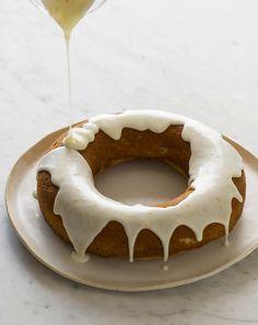 Meyer Lemon Pound Cake with a Vanilla Citrus Glaze