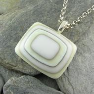 White/Ivory Modern Simple Glass Pendant.french vanilla and reactive cloud glass