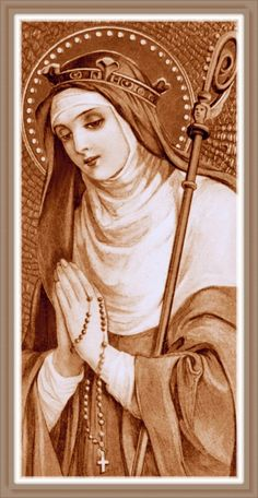 """St. Gertrude.The following prayer will release 1000 souls from purgatory: """"Eternal Father, I offer Thee the Most Precious Blood of Thy Divine Son, Jesus, in union with the masses said throughout the world today, for all the holy souls in purgatory, for sinners everywhere, for sinners in the universal church, those in my own home and within my family. Amen."""""""