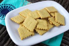 These crispy Grain-free Cheese Crackers get their cheesy flavor from nutritional yeast and use ground flax seeds instead of the eggs.
