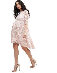 57a4f3c330e7 Бежевое кружевное платье для беременных Chi Chi London Maternity Платья,  Кружевное Платье, Мужская Мода