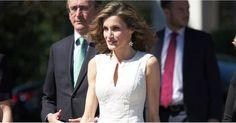 Queen Letizia's White Dress Looks Pretty Darn Simple - Until You Zoom In