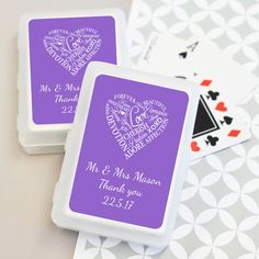 Words of Love Wedding Playing Cards - Custom Made Bomboniere
