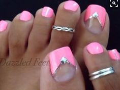 Toe Nail Art (French , Studs)