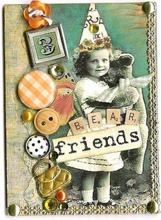 Nostalgic Collage': ATC - Bear Friends II