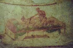 The buried cities of Pompeii and Herculaneum, not surprisingly, contained a lot of erotic art. and not unearthed again for nearly 17 centuries, this erotic art was mostly preserved. Historical Armor, Roman Art, Herculaneum, Ancient, Drawings, Painting, Art, Historical Drawings, Ancient Paintings