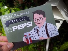 12 PACK Christmas Postcards / Christmas Postcard / Holiday Card Pack / Card Pack / Home Alone Go Easy On The Pepsi - by meet me in Shermer