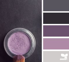 #colorpalette Great color palette for little ones loving purple. Cosmetic color from design seeds