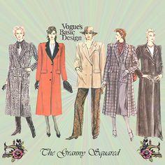 Vogue Basic Design Double Breasted Coat by TheGrannySquared