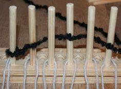 The shed and beyond.: Homemade peg loom ... ...