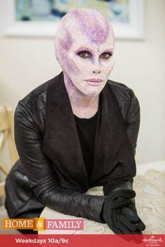Special Effects Makeup Artist Shelby Patton transforms @kymdouglas into an alien & it's stellar! #Cekima