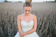 Simple hair style for a whimsical wedding.
