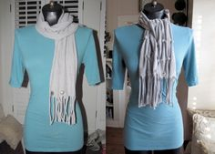 A Tale of Two Scarves (made from t-shirts)