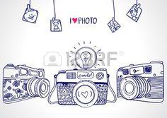 illustrazione schizzo vintage retro macchina fotografica photo