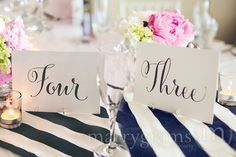 Amazing These Simple Yet Oh So Elegant Single Sided Table Numbers Are Made With  Ultra Thick Shimmer Cardstock And Are Perfect For Use In Frames Or Stands  At Your ...