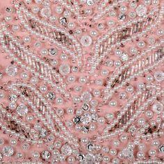 Victoria Royal - Robe de Soirée - Soie Rose, Perles et Strass - Années 60