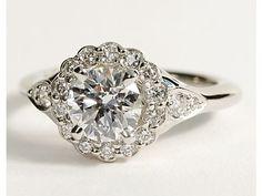 Flora Vida™ Halo Engagement Ring in Platinum #BlueNile
