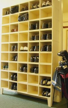 Built-In Shoe Storage