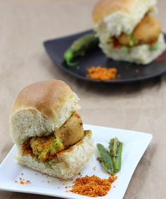 Vada Pav with Garlic Chutney - Mumbai Special Street Food Snack - Indian Burger - Step by Step Photo Recipe