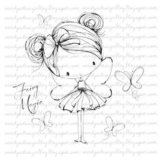 Fairy Magic di alldressedupstamps su Etsy