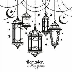 Illustration of Ramadan Kareem. vector art, clipart and stock vectors. Mandala Drawing, Mandala Art, Buch Design, Design Art, Motif Oriental, Ramadan Crafts, Beatrix Potter, Art Drawings Sketches, Mandala Design