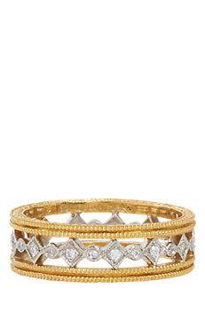 Diamond, Platinum & Gold Band
