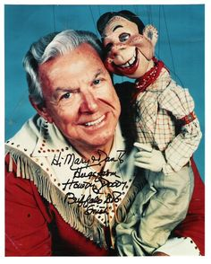 """Buffalo Bob Smith -- He was Host and portrayed Buffalo Bob on TV Series """"The Howdy Doody Show"""". Movie -- """"Problem Child as Father Flanagan. He died of Cancer, age Born: Robert Emil Schmidt. Vintage Posters, Vintage Photos, Bob Smith, Howdy Doody, Vintage Mom, Vintage Games, Old Shows, Classic Tv, Classic Movies"""