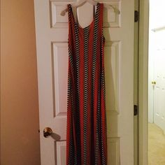 Funky Sundress Great Sundress. NEVER worn. Form fitting in all the right ways. Dresses Maxi