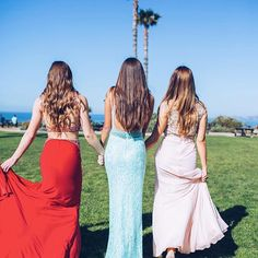 This my CLIQUE  #PromInspo #LadiesWhoLUX // Shop our PROM board for beautiful gowns hand picked for you and your besties! Nina Canacci 1263 Triumph Two Piece Gown $85; Clarisse 4736 Seafoam Lace & Beaded Gown $115; Clarisse 2823 Blushing Belle Evening Gown $110