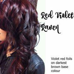Violet Red Foils/Darkest Brown Base Colour