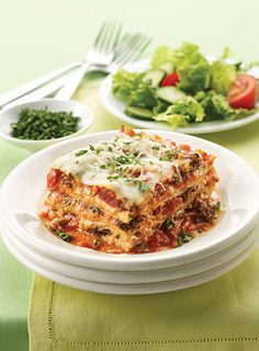 A great lasagna is all about layers of flavor — and layers of cheese. The Land O'Lakes Foundation will donate $1 to Feeding America® for every recipe pinned through April 30, 2015. (Pin any Land O'Lakes recipe or submit any recipe pin at LandOLakes.com/pinameal).