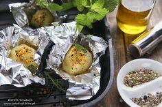 Ziemniaki z grilla w ziołowej marynacie
