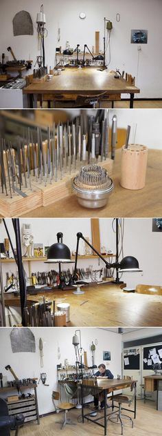 Goldsmith Ralph Bakker's Atelier http://www.ralphbakker.nl/web/atelier.php #benchideas