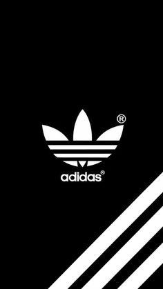 Adidas (Over Black Background) - Mobile Wallpaper/Background/Lockscreen. Adidas Iphone Wallpaper, Nike Wallpaper, Mobile Wallpaper, Adidas Backgrounds, Black Backgrounds, Wallpaper Backgrounds, Cute Backgrounds For Phones, Wallpapers Wallpapers, Apple Watch Wallpaper