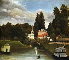 le Moulin à Alfor - (Henri Rousseau)