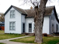 "The ""house in town"" Laura described. Built by Charles Ingalls for his family, this house, still in it's original location in DeSmet, SD, was the last home he and Caroline lived in."