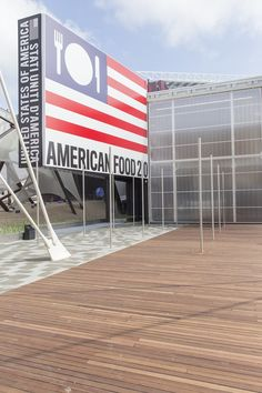 A sustainable and technological vertical farm. American white oak deck features in the USA Pavilion at @Expo2015Milano