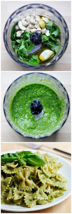Cilantro Basil Pesto Sauce for Pasta, Sandwiches, or dip! Healthy & Delicious