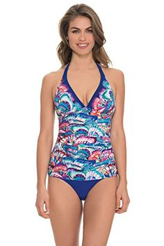Profile by Gottex Womens Madame Butterfly Halter Tankini Top Multi 6 ** More info could be found at the image url.(This is an Amazon affiliate link)