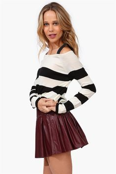 Stripes and Leahter .. what more can a girl want..