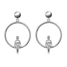 Venus Silver Earrings - Shop OnLine! #unusualearrings #unusualjewelry #uniqueearrings #unusualjewellery #unusualforher #uniqueearringsgift #venusearrings #silverunusual