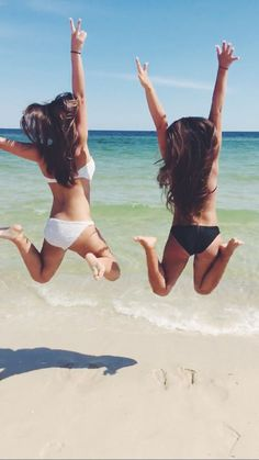 BFF. Summer goal. Beach. Bikini. Friends. Friendship goal. crazy.