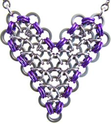 Warm Heart heart necklace from bike chain [NK_WH] - $75.00 : Bicycle Jewelry: Chainspirations, bicycle chain jewelry to celebrate and inspire fitness! I love the purple, as pictured. :-)