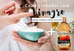 Condicionador com vinagre de maça: um condicionador ácido fácil de fazer, que sela os fios e doa muito mais brilho ao cabelo!